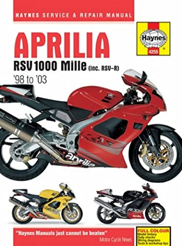 Aprilia RSV1000 Mille Service and Repair Manual: 1998 to 2003