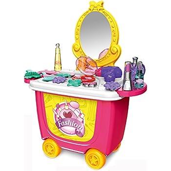 xc toys coiffeuse et valises 2 en 1 jouet d 39 imitation pour. Black Bedroom Furniture Sets. Home Design Ideas