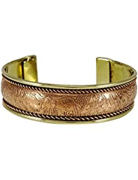 Banithani unisex cobre brazalete pulsera ajustable nuevo brazalete de la bisutería