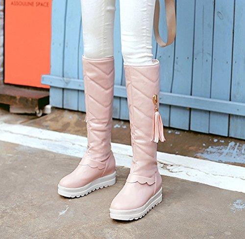 Mee Shoes Damen langschaft hidden heel runde Schneestiefel Pink
