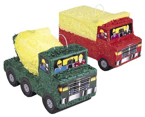 Ed-truck (Pinata * BAUSTELLE / TRUCK / LKW * - Topfschlagen aus Amerika. Wird mit Süssigkeiten oder Spielen gefüllt, ca. 40x21x18cm // Piñata Mexiko Ritter Pirat Auto Kinder Geburtstag Kindergeburtstag Spiele Spass Geburtstagsspaß Geschenke Geschenkverpackung Bob Bauarbeiter Cement Mischer)