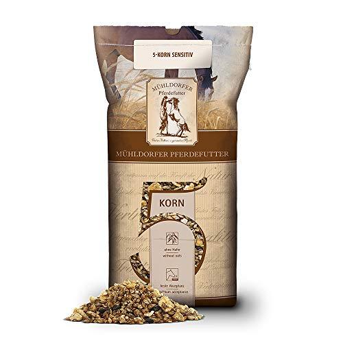 Mühldorfer 5-Korn sensitiv, 20 kg, naturreines Vollkornmüsli, Futter ohne synthetische Vitalstoffe, ideal für sensible Pferde