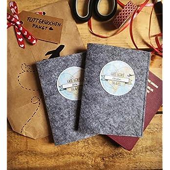Reisepasshüllen-Set | Personalisiertes Hochzeitsgeschenk für die Flitterwochen