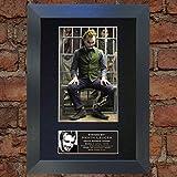 Heath Ledger Joker Mounted Reproduction d'A4de photo dédicacée Douille