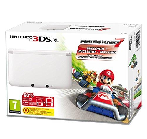 Nintendo 3Ds Xl: Console + Mario Kart 7, Bianco - Bundle Limited Edition [Importación Italiana]