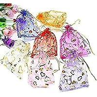 zeonely mat Potli Bags,4 x 6 inch (30 pcs)(multi color)