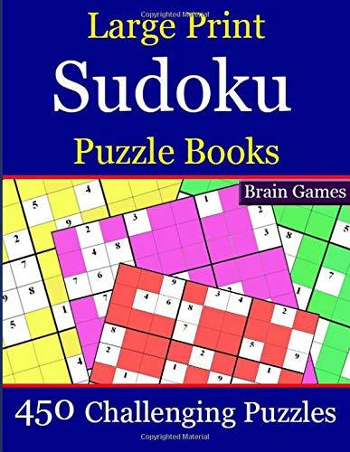 Large Print Sudoku  Puzzle Books: 450 Challenging Puzzles por rizza p.k