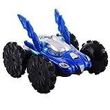 8 Kanal R/C ferngesteuertes Fahrzeug Flip Rotation Stunt Amphibienauto Amphibienfahrzeug zu Land und zu Wasser blau/rot (blau)