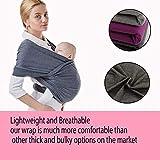 Rain&Star marsupio neonati |Fascia porta bambino| tracolla di alta qualità per neonati e bambini fino a 15 kg| Fascia Porta bebè, Porta Marsupio Neonato| Fascia neonato in cotone (Grigio scuro)