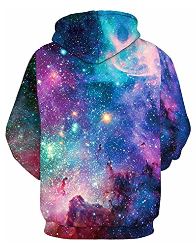 Leslady Kapuzenpullover Sweatshirts 3D Digital Hoodies Print Muster Unisex Sport für Frauen 001