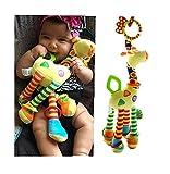Lalang Baby Plüschtiere, Kleinkindspielzeug,Beschwichtigen Schlaf Spielzeug,Kinderwagen, der Spielzeugauto-Drehmaschine hängenden Baby Rasseln,Farbige Klein Hirsch