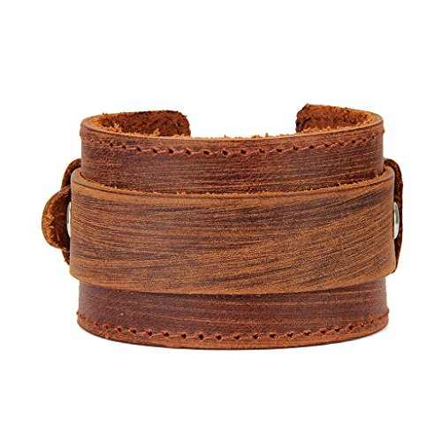 Baoblaze Bracelet PU Leather Bracelet with Metal Buckle Unisex Accessory - Coffee