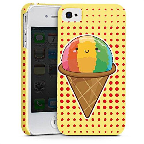 Apple iPhone X Silikon Hülle Case Schutzhülle Eis Regenbogen Sommer Premium Case glänzend