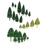 WINOMO 27 Stk. Modell Bäume Zug Eisenbahnen Architektur Kriegsspiel Landschaft Layout 3-16 cm -