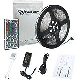 ALED LIGHT® Striscia LED SMD 5050 RGB -10 Metri - 24V - 6A Alimentazione Elettrica - 600 LED- 44 ...