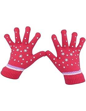 Eastlion Kinder Warm Handschuhe Fünf Finger gestrickte Wolle Handschuhe
