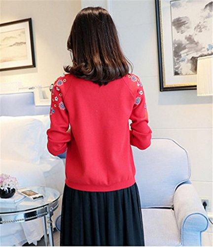 SANKU Femmes Casual Longue Manche Longue Gilet Tricot Chandail Cardigans Pull Sweaters Manteau Coat Bonnetterie Veste Outwear Cape Hiver Rose