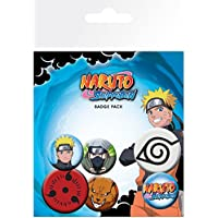 Naruto - Naruto Shippuden Mix, 4 X 25mm & 2 X 32mm Chapas Set De Chapas (15 x 10cm)
