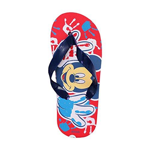 Ciabatte infradito bimbo Disney Topolino Mickey Mouse sandali in gomma rossi 2301000853 .MWS (26, Rosso e Blu)