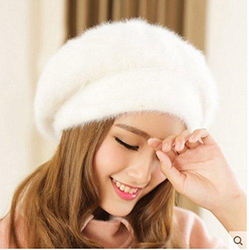 Bérets Femmes Chapeau D'hiver Femmes Version Coréenne Ligne Chapeau Hiver Gardez Chaud Chapeau Visage Fait Mince ( couleur : 1# ) # 3