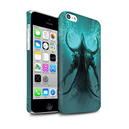 Offiziell Chris Cold Hülle / Matte Snap-On Case für Apple iPhone 5C / Pack 10pcs Muster / Dunkle Kunst Dämon Kollektion Getarnte Teufel