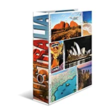 HERMA Lever Arch File Globetrotter with Australia Motif, A4, 70 mm Spine, with Inner Print, 1 Folder