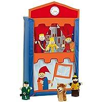 Roba Teatro de títeres de madera maciza con 6 marionetas;  120cm de altura 6972