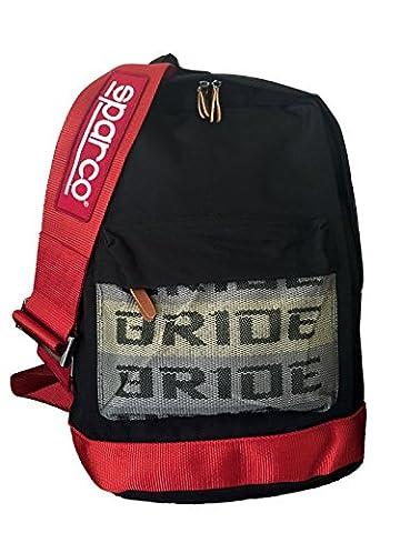 Bride sac à dos avec harnais de course Sparco rouge comme bretelles Bride backpack takata