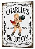 Gym Bodybuilder personalisierbar Gewichtheber Funny Geschenk Schild Custom Metall