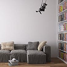 Banksy Girl Swinging Pegatina / Calcomania / Vinilo Decorativo para Paredes en el Hogar