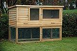 Kaninchenstall de Luxe, Dobar, XXL, mit drei Türen - 2