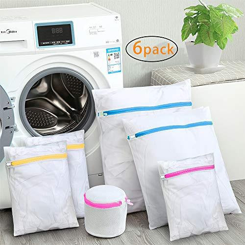 SUNTATOP Bolsas para la Colada,Bolsa Durable Reutilizable para Lavadora Bolsa de red de Lavandería Delicada Blusa para Ropa, Ropa Interior, Calcetines, Conjunto de 6