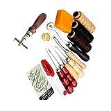 Jian Ya na 14Leder Craft Hand Sticken Nähen Werkzeug Gewinde Ahle gewachst Fingerhut Set Kit
