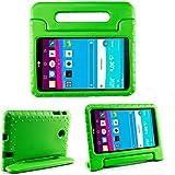 """LG G Pad FII 8.0Funda, Bolete para niños ligero espuma EVA función atril para [4G LTE AT & T Model V495/T-Mobile Model V496/US Cellular Model UK495] & G Pad 28.0[V498] 8""""Tablet verde verde"""