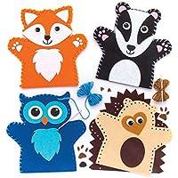 Baker Ross Woodland Animal - Kit De Costura para Marionetas De Mano (3 Unidades), Multicolor (Ar637)