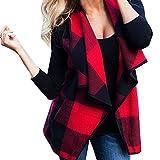 Gilet sans manches pour femme Sonnena Femme Gilet en laine Manteau de maintien au chaud Cardigan Manteau sans manches pour homme L Red