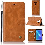 Asus ZenFone 3 Max ZC553KL Cellphone Case PU Leather Wallet Case Flip Kickstand Function Ultra Folio Flip Slim Card Holder Case Cover Protection For Asus ZenFone 3 Max ZC553KL (Light Brown