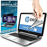 SmartGlaze ( Pack Of 3 ) HP ENVY 15-k252na 15.6 Touchscreen Laptop Case Brand New Luxury Crystal Clear Premium LCD Screen Protectors Packs With Polishing Cloth & Application Card