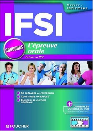 L'épreuve orale. Concours d'entrée en IFSI
