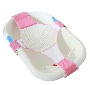newborn baby bath   support adjustable bathtub seat mesh hammock  pink   amazon co uk  baby newborn baby bath   support adjustable bathtub seat mesh hammock      rh   amazon co uk