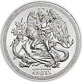 Coin Invest Trust 2018 Isle of Man Angel - Engel Erzengel Michael Drachen 2oz Silbermünze PP