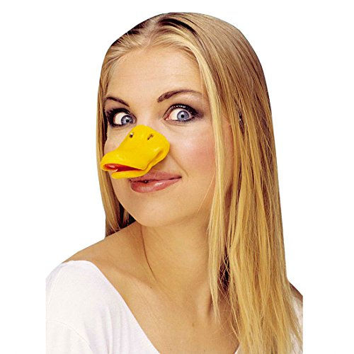 Enten Schnabel Entenschnabel Hartplastik Tierschnabel Ente Entenschnute Duck Face Tiermaske Gans Fasching Party Tier Mottoparty Accessoire Karneval Kostüm Zubehör