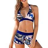 Bikini Mujer Push Up RIOU Mujeres Conjunto de Traje de BañO Estampado Bohemio BañAdores con Relleno Acolchado Tallas Grandes vikinis 2 Piezas Verano S-XXL