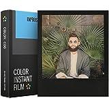 Impossible Lot 4515Color Film photo instantané pour Polaroid 600Appareil photo 8photos noir avec cadre