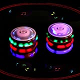 Magic Music Spinning Tops Gyroscope with Colorful Flash Light-emitting Red Laser Line Christmas Gift for Boys Children Kids Girls 2PCS