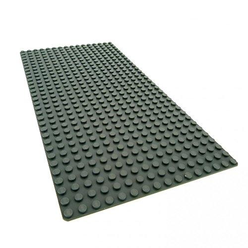 Bausteine gebraucht 1 x Lego System BAU Platte 16 x 32 neu-dunkel grau flach 16x32 Noppen Star Wars Ferrari 3182 7775 21005 8144 LIT2009 10190 10213 10184 4269651 2748 3857 - Lego Bau Platte Graue