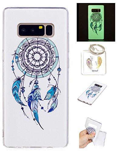 Preisvergleich Produktbild Hülle Galaxy Note 8 TPU schutz silikonhülle, Weihnachtsgeschenke niedlichen cartoon bild transparent handy Hülle für Samsung Galaxy Note 8 + schlüsselanhänger (* / 100) (4)