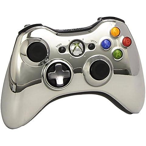 Microsoft - Mando Inalámbrico, Color Plata Cromado, Edición Limitada (Xbox 360)
