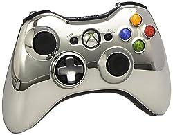 Official Xbox 360 Wireless Controller - Chrome Silver (Xbox 360)