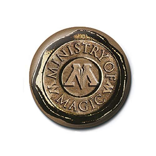 Pritties Accessories Echte Warner Bros Harry Potter Ministerium für Magische Siegel Taste Abzeichen Stift Hogwarts -